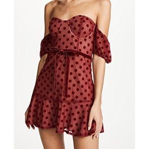 For Love and Lemons Dotty Strapless Dress